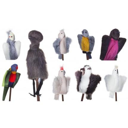 Birdie Bunch - 9 delightful native bird puppets